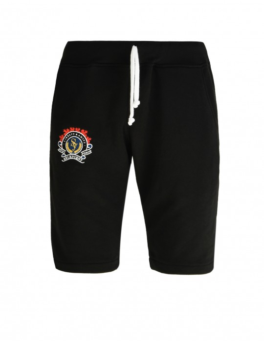 SELEPCENY BLACK SHORT ROYAL FORCE FINE COMFORT 70% COTTON SWEATPANTS