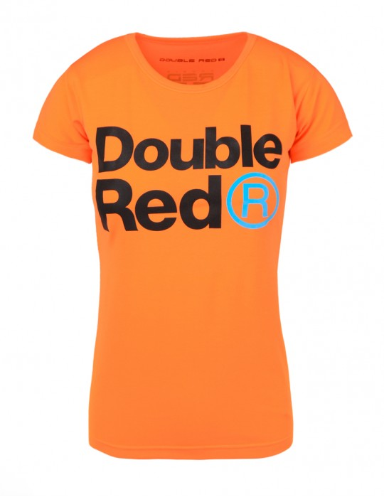DOUBLE RED Trademark NEON T-shirt Orange