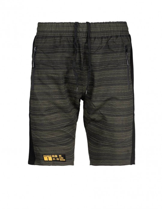 Shorts Kung-Fu Master Stripes Green